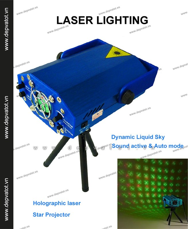 may chieu sao laser laser stage lighting