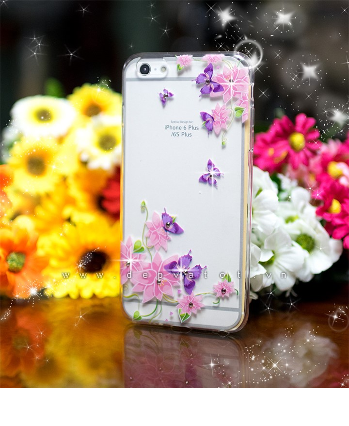op lung iphone 6, 6s plus deo hinh hoa