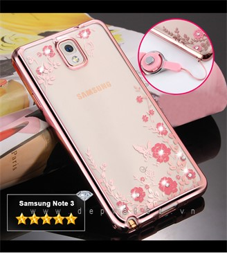 op lung samsung note 3 deo hinh hoa