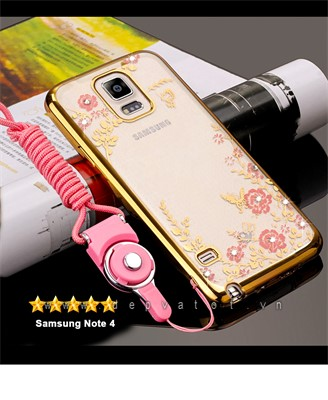 op lung samsung note 4 deo hinh hoa